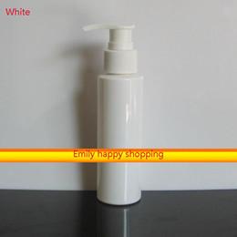 Wholesale Detergent Bottles - Pump Dispenser Cap Shower Gel Facial Cream Bottle 100ml perfume refill bottle Plastic Empty Detergent Cosmetic Bottles