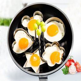 Wholesale Pa Rings - Fried Egg Mold Egg Ring Egg shaper SUS304 Stainless Steel Pancake Mold Kitchen Tool Pancake Rings Multi Use Cookware for Skillets, Frying Pa