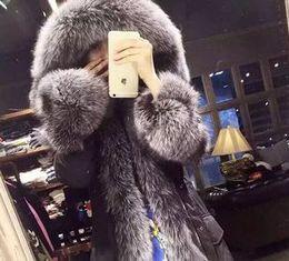 Wholesale Winter Jacket Brands Korea - HOT! winter South Korea brand-name luxury jacket down jacket really fox fur long down jacket