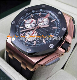 Wholesale offshore rose gold - Luxury Wristwatch ROSE GOLD OFFSHORE ROO CHRONOGRAPH RO 44mm NEW Quartz Mens Watch Men's Wrist Watches
