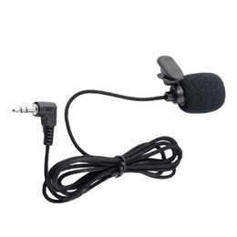 Wholesale Wired Cameras - 3.5mm Jack Mini Tie Clip-On Lapel Lavalier Wired Double Track Microphone Mikrafone mikrofon For SmartPhones PC Camera