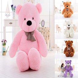 Wholesale Giant Teddy Free - 5 Color 60 80 100 120 160 180 200 300cm size Giant shell giant teddy bear Valentine's Day holiday gift bear Plush Toys Free shipping B