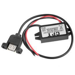 Wholesale Dc Output 12v - Wholesale- New DC Converter Module 12V To 5V 3A 15W USB Output Power Adapter hot selling