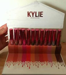 Wholesale Gold Gloss - Retail In Stock!!!2017 Kylie Jenner Lipkit Newest 12 Colors Kylie Cosmetics Matte Lipstick Lip gloss Kit Lip Birthday Limited Edition gold