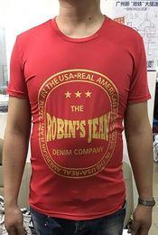 Wholesale Men Company - 2017New The Denim Company Shirt Mens Shirt 100% Cotton T-shirt Robin Robbins Jean Men's Short Sleeve T-shirt Robin M L XL XXL 3XL