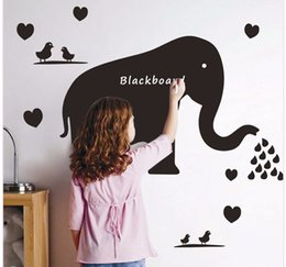 Wholesale Wall Decal Messages - Elephant Blackboard Stickers Cartoon Children Graffiti Board Message Board Chalkboard Wall Guestbook For Kids' Room Bedroom Home Decorations