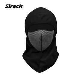 Wholesale Wholesale Fleece Hats Scarves - Wholesale- Sireck Winter Windproof Cycling Face Mask With Activated Carbon Filter Fleece Bicycle Bike Mask Hat Warm Sport Ski Mask Scarf