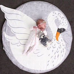 toy playmat Coupons - Easter Swan Multi-function Baby Play Mat Playmat Kids Toy Storage Bag Non-slip Bottom Portable Carry Playing Mats room decor floor Swan Mat