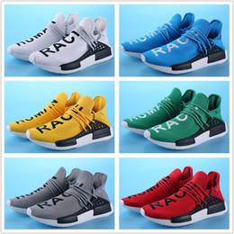 2019 botas de carrera Con Box 2018 raza humana Pharrell Williams Running Shoes en línea Deportes hombres y mujeres Boots sneakers talla 36-45 rebajas botas de carrera