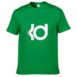 Wholesale Striped Plus Size Tee Shirts - New Spring Summer Fashion 2017 Men t Shirt Printed kevin durant KD LOGO T-shirt 100% Cotton Women Tee Tops Short Sleeve