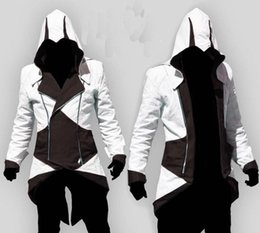 Wholesale assassins creed white jacket - Men's Jackets Custom handmade Fashion Assassins Creed 3 III Connor Kenway Hoodies Costumes Jackets Coat 9 colors choose direct from factory