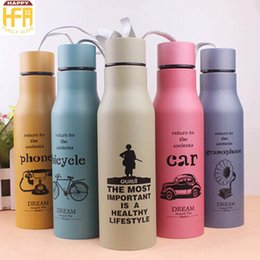 Wholesale Portable Paint - 500Ml Stainless Steel Water Bottle Portable Sport Bottles Creative Design Thermos Matte Painting Water Bottles Mixed Color