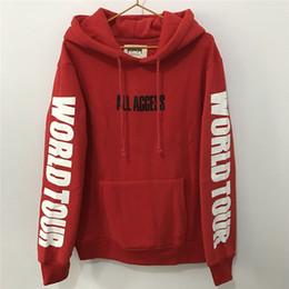 Wholesale Fashion Access - Justin Bieber Hoodie ALL ACCESS Print Wourld Tour Sweatshirt Men Streetwear Fashion Tracksuit Women Fans Purpose Tour Pullover