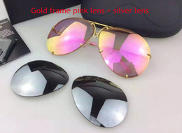 Wholesale Extra Lenses - Car brand Carerras 8478 Sunglasses P8478 A mirror lens pilot frame with extra lens exchange car brand large size men brand designer