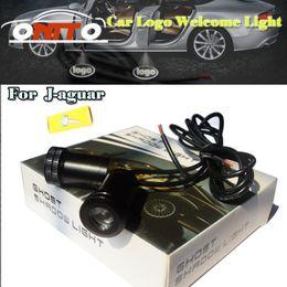 Wholesale Lighted Car Emblems - 4th Auto Ghost Shadow Lamp For XF XJ F-TYPE C-X17 XK Car logo Light Emblem Laser Door Bulb 12V 10W