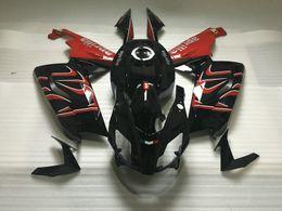 Kit de cuerpo carenado aprilia online-Kit de carrocería de carenado de inyección para Aprilia RS125 06 07 08 10 11 Carrocería RS 125 2006 2011 juego de carenados rojo negro AA02