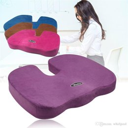 Wholesale Massage Office Chair Cushion - Coccyx Orthopedic Memory Foam Seat Cushion for Chair Car Office Home Chair Car Bottom Seats Massage Cushion