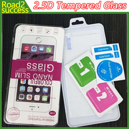 Wholesale New Iphone Glass Screen - 2.5D Tempered Glass Screen Protector for iPhone 7 SE S7 Edge S6 Edge Plus Glass iphone 7 6 6 plus 5 4 Samsung S4 S5 Note 7 2 3 4 5 New LG K7
