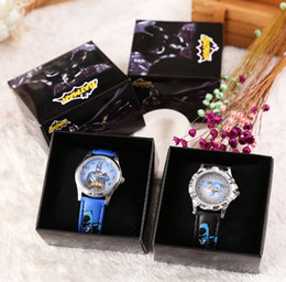 Wholesale Wholesale Batman Dresses - Wholesale Cartoon Classic Batman kids boys girls children cartoon quartz Children Wristwatch Watches With Boxes Party Favors Gift W16