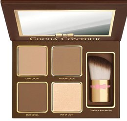 oil free makeup Promo Codes - Free Shipping ePacket! HOT new makeup Cocoa Contour Chiseled to Perfection Face Contouring& Highlighting Kit DHL Free shipping
