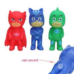 Wholesale Good Pajamas - 10set 3pcs set 9cm Plastic Vinyl Connor Greg Amaya Action Figures Pajamas Hero Doll Boys Girls Masks Bath Toys Can Sound de juguetes