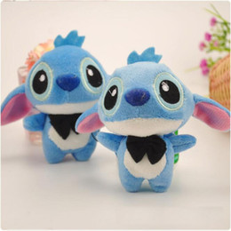 Wholesale Backpack For Dolls - Kawaii Stitch Plush Doll Toys With Bow tie Keychains for Backpack Phone Coin Case,Best Children Kids Gift