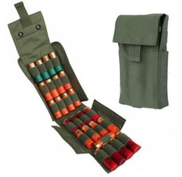 Wholesale Rifle Ammo Holder - Tactical Magazine Pouch 25 Round 12GA Molle Shells Cartridge Folding Rifle Ammo Bag Pouch Bullet Holder Shotgun Shell Holder