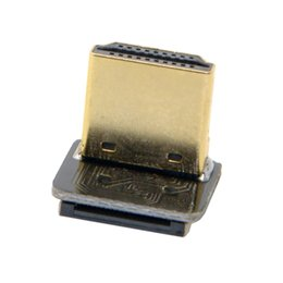 Wholesale Angle Photography - Wholesale- CYFPV 90 Degree Up Angled HDMI Type A Male Connector for FPV HDTV Multicopter Aerial Photography