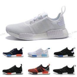 Wholesale Cheap Men Sneakers Online - 2017 Cheap Online Wholesale R1 Primeknit PK Men's & Women's Discount Sales Black Red Blue Sneaker Shoes Running