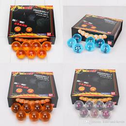 Wholesale Dragon Resin - Animation dragonBall 4cm 7 stars crystal ball 7pcs set dragon ball Z complete Set 4 Styles