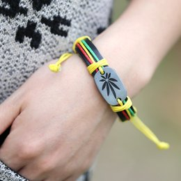 Wholesale Wholesale Dance Bracelets - Handmade Colorful Bracelet Man Leather Accessories Hip hop Dance Accessory