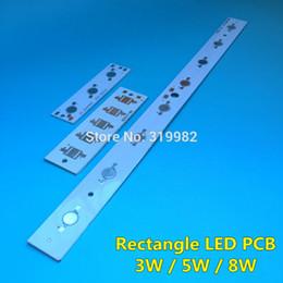 Wholesale Led Pcb Aluminium - Wholesale- 20 PCS LED Rectangle aluminium base plate 3W 5W 8W high power Panel Lumen LEDs radiator for LED Lamp chip White PCB Board