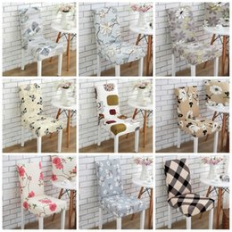 Wholesale Wedding Chairs Covers For Sale - Modern Half Chair Cover Telescopic Stretch Banquet Painted Chairs Covers For Wedding Dining Room Slipcovers Factory Direct Sales 7 2wd B