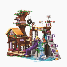 Wholesale Toy Model Tires - BELA 10497 Friends Adventure Camp Tree House Tire Swing Model Building Minifigures Blocks Girl Toys Compatible with TOYS
