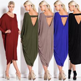 Wholesale casual suits for ladies - European Five Color Fertilizer Code Irregular Dress Autumn And Winter New Pattern Suit-dress Clothing Ladies Casual Dresses For Women Woman
