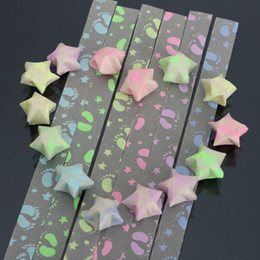 Wholesale Quilling Paper Strips - Wholesale- 30 Strips Hot Sale Handcraft Origami Luminous Lucky Star Paper Colorful Strips Paper Origami Quilling Paper Decoration