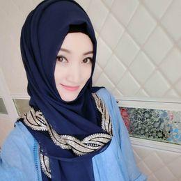 Wholesale Big Lace Scarf - Muslim Hijab Jersey Scarf Women Head Coverings Femmes Turban Hijabs Gray Islamic Veil Stretch Bandana Fashion Big Size Hot