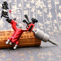 Wholesale Dragonfly Rotary Rca - Dragonfly Rotary Tattoo Machine 7Colors Tattoo Gun with RCA Joint Rotary Liner&Shader Tattoo Art Supply TM201