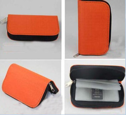 Wholesale Memory Card Case Pouch - High quality 22 SDHC MMC CF Micro SD Memory Card Storage Carrying Zipper Pouch Case Protector Holder Wallet 50pcs