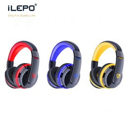 Wholesale Earphone Over - Over-the-Head Wireless Bluetooth Earphone V3.0+EDR Handsfree Headsets Headphone Earbuds Max to 64GBP Bluetooth Headphones DHL Free