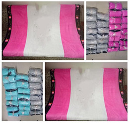 Wholesale Beach Beds - Blanket Air Condition Xmas Gifts Pink Blankets For Beds Christmas Coral Fleece Travel Letter Serect Beach Cover Throw 30pcs Free Shipping