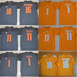 2411dfe3f33 ... stitched youth mlb jersey 0b4ff dd555; ireland 16 peyton manning  tennessee volunteers 11 joshua dobbs 1 jalen hurd orange grey white color