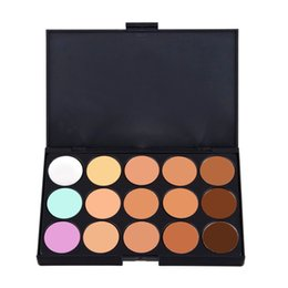 Маскирующий маскирующий макияж онлайн-Wholesale-15 Color  Concealer Palette Professional Naked Face Cream Camouflage Facial Care Cover Contouring Cosmetics Make Up