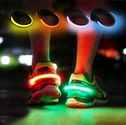 Wholesale Glow Clips - LED Luminous Shoe Clip Light Night Safety Warning Running Sports Glowing Reflectors Led Sports Light Christmas Gifts OOA3722