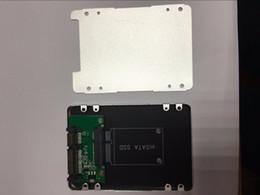 convertidores de sata Rebajas Al por mayor- mSATA a SATA Case Converter Adapter mini SATA SSD a 2.5