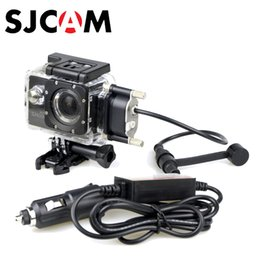 Wholesale motorcycle charge - Wholesale- SJCAM Motorcycle Waterproof Case for Original SJCAM SJ5000 Series for SJ4000 Series Charging Case for SJ5000X Plus WiFi