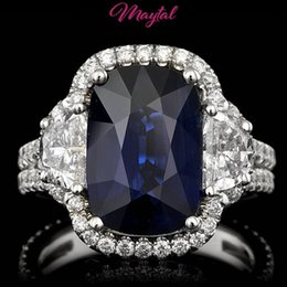 Wholesale Gold 18k Diamond Certified - MAYTAL JEWELRY GIA   BHGL $94300 CERTIFIED 18K GOLD 6CTW SAPPHIRE DIAMOND RING Listed for charity