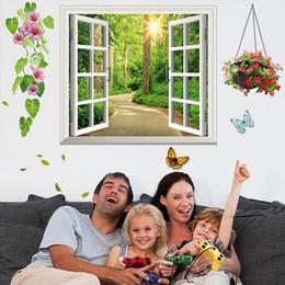 Wholesale Decorative Wall Baskets - Wall stickers custom processing 3D stereo window stickers genuine imitation decorative stickers 1141 environmental scenery basket