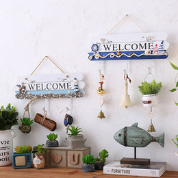Wholesale Metal Wall Crafts - Welcome Store Open Sign Wall Decoration Vintage European Style Design Of Wooden Shop Antique Ornaments Hanging On Craft Wall Art