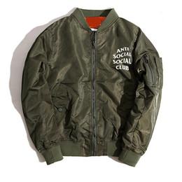 Wholesale Trench Coat Hip Hop - Winter Brand ASSC Wind-Proof Jacket ANTI SOCIAL CLUB Mens Coaches Jackets Hip-Hop Women Duster Coat Waterproof Trench Coats 678